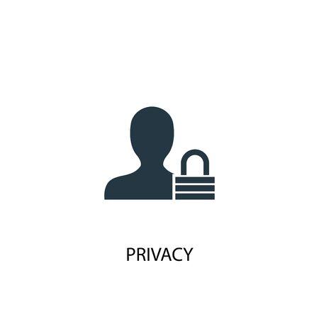 Ilustración de privacy icon. Simple element illustration. privacy concept symbol design. Can be used for web - Imagen libre de derechos