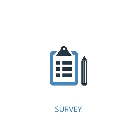 Illustration pour survey concept 2 colored icon. Simple blue element illustration. survey concept symbol design. Can be used for web and mobile - image libre de droit