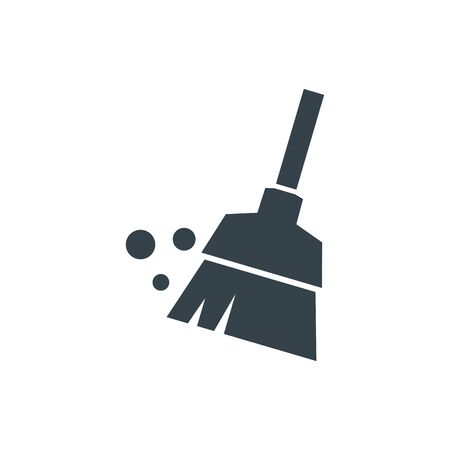 Illustration pour broom concept logotype template design. Business logo icon shape. broom simple illustration - image libre de droit