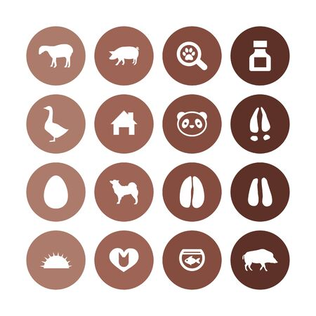 Ilustración de animals, pets icons universal set for web and UI - Imagen libre de derechos