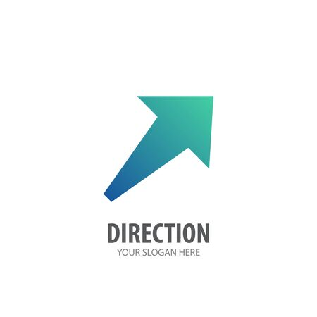 Illustration for Direction logo for business company. Simple Direction logotype idea design - Royalty Free Image