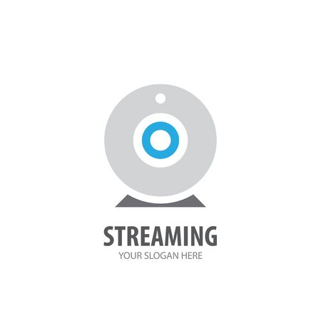 Ilustración de Streaming logo for business company. Simple Streaming logotype idea design - Imagen libre de derechos
