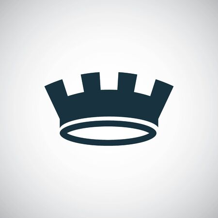 Illustration for crown icon trendy simple symbol concept template - Royalty Free Image