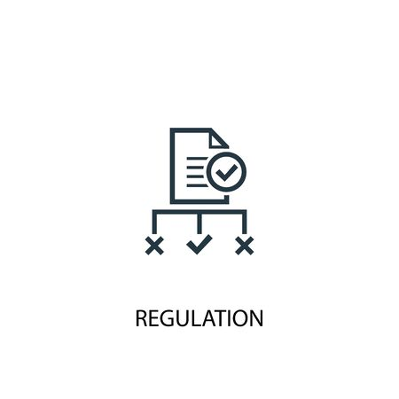 Illustration pour regulation icon. Simple element illustration. regulation concept symbol design. Can be used for web and mobile. - image libre de droit