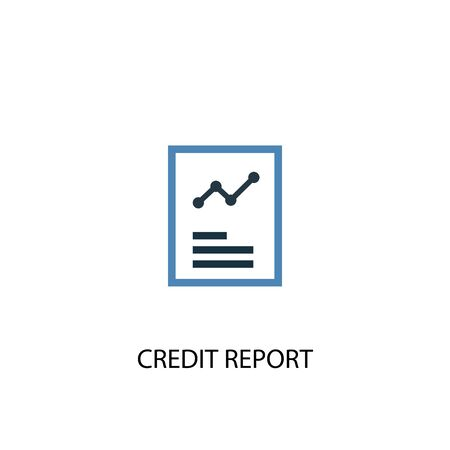 Illustration pour Credit report concept 2 colored icon. Simple blue element illustration. Credit report concept symbol design. Can be used for web and mobile - image libre de droit