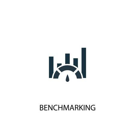 Ilustración de Benchmarking icon. Simple element illustration. Benchmarking concept symbol design. Can be used for web - Imagen libre de derechos