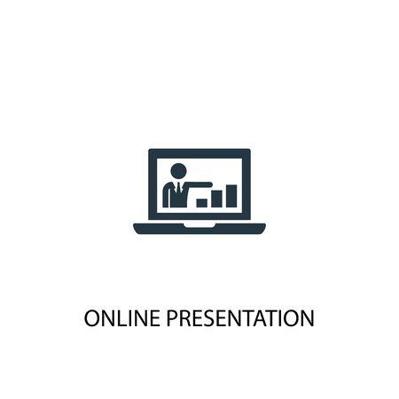 Ilustración de online presentation icon. Simple element illustration. online presentation concept symbol design. Can be used for web and mobile. - Imagen libre de derechos