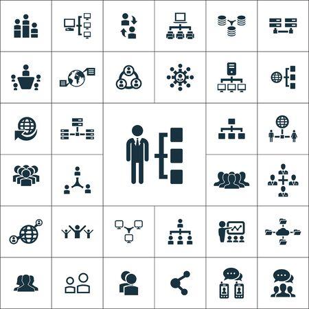 Ilustración de network icons universal set for web and mobile. - Imagen libre de derechos