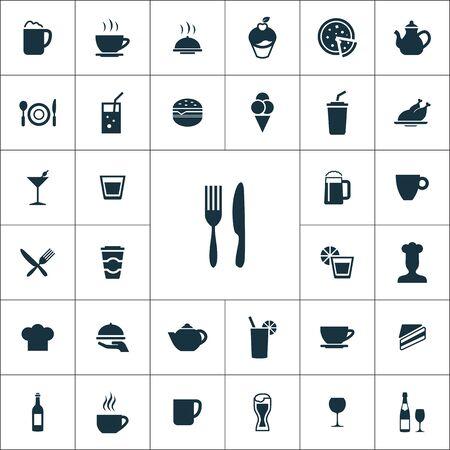 Ilustración de cafe icons universal set for web and mobile. - Imagen libre de derechos