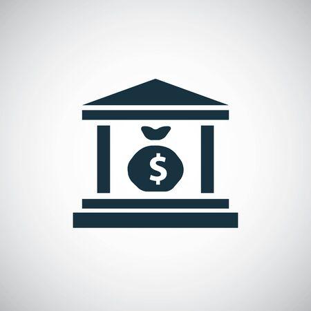 Ilustración de money bank icon, on white background. - Imagen libre de derechos