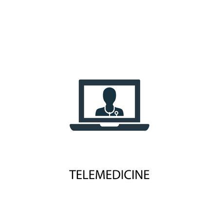 Ilustración de telemedicine icon. Simple element illustration. telemedicine concept symbol design. Can be used for web and mobile. - Imagen libre de derechos