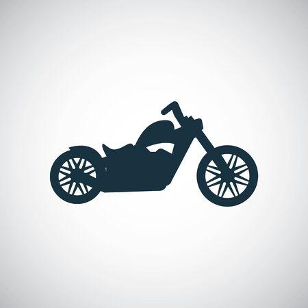 Ilustración de motorcycle icon, on white background. - Imagen libre de derechos
