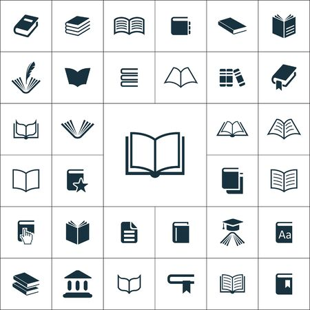 Illustration for books icons universal set for web and mobile. - Royalty Free Image