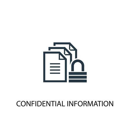 Ilustración de confidential information icon. Simple element illustration. confidential information concept symbol design. Can be used for web - Imagen libre de derechos