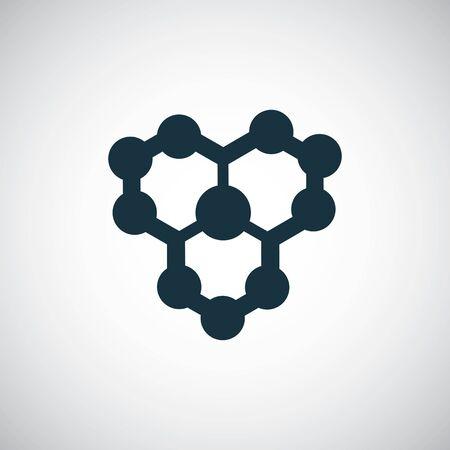 Illustration pour molecule icon, on white background. - image libre de droit