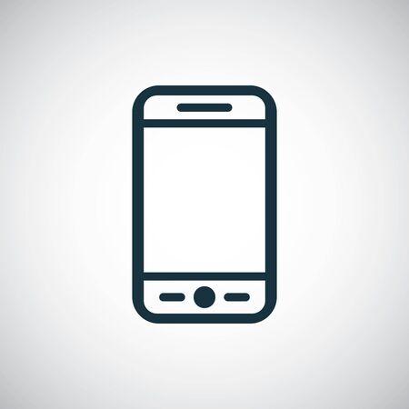 Illustration pour smartphone icon, on white background. - image libre de droit