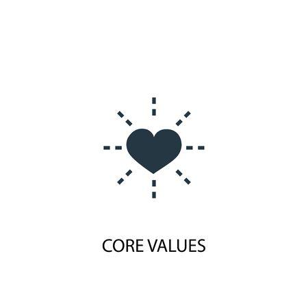 Illustration pour Core values icon. Simple element illustration. Core values concept symbol design. Can be used for web - image libre de droit