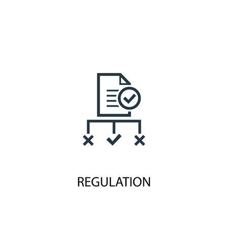 Illustration pour regulation icon. Simple element illustration. regulation concept symbol design. Can be used for web - image libre de droit