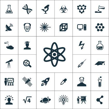 Illustration pour science icons universal set for web and mobile. - image libre de droit