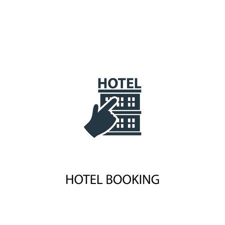 Ilustración de hotel booking icon. Simple element illustration. hotel booking concept symbol design. Can be used for web - Imagen libre de derechos