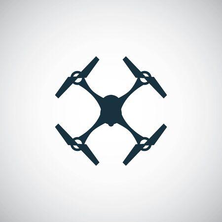 Illustration pour quadrocopter drone icon simple flat element concept design - image libre de droit