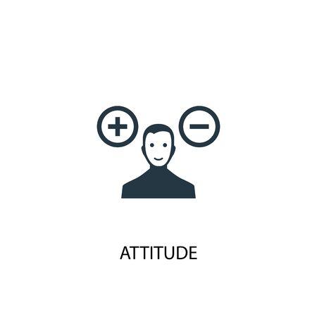 Illustrazione per attitude icon. Simple element illustration. attitude concept symbol design. Can be used for web and mobile. - Immagini Royalty Free