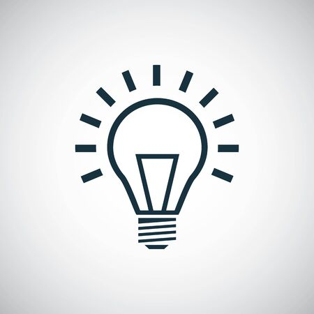 Ilustración de light bulb icon, on white background. - Imagen libre de derechos