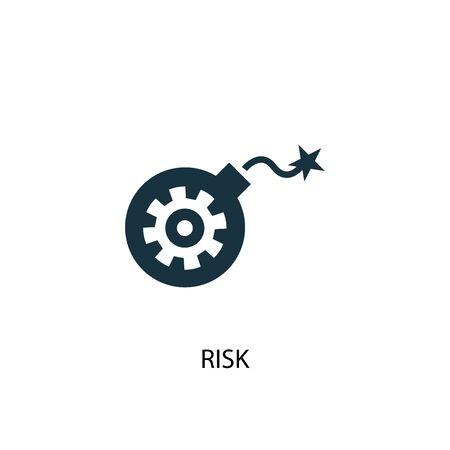 Ilustración de risk icon. Simple element illustration. risk concept symbol design. Can be used for web - Imagen libre de derechos