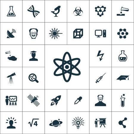 Illustration pour science icons universal set for web and UI - image libre de droit