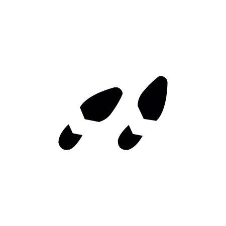 Ilustración de shoes footprints on the white background. - Imagen libre de derechos