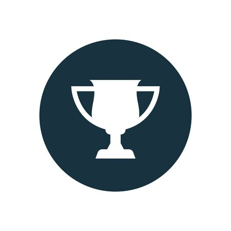 Illustration for cup icon on white background. - Royalty Free Image