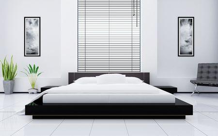 Modern interior of a bedroom