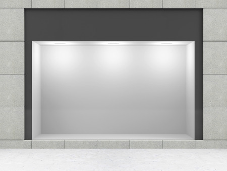 Photo for Modern Empty Store Front with Big Window - Royalty Free Image