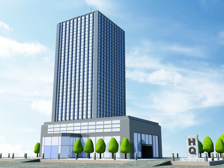 Foto de Modern Headquarters Building, Contemporary Business Center, Down Town Financial District - Imagen libre de derechos