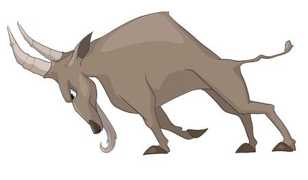 Cartoon Character Goat Isolated on White Background.