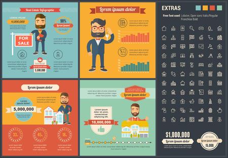 Ilustración de Real Estate infographic template and elements. - Imagen libre de derechos