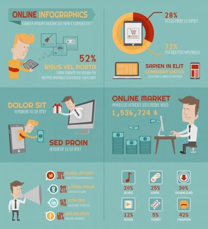Ilustración de Online shopping infographics elements , eps10 vector format - Imagen libre de derechos