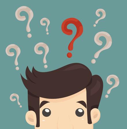 Illustration pour Businessman confused , eps10 vector format - image libre de droit