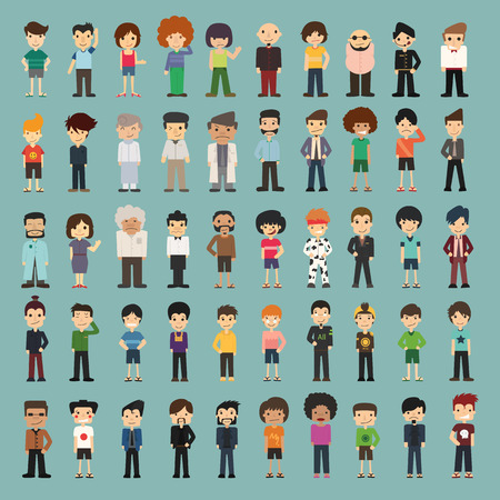 Photo pour Group cartoon people , eps10 vector format - image libre de droit