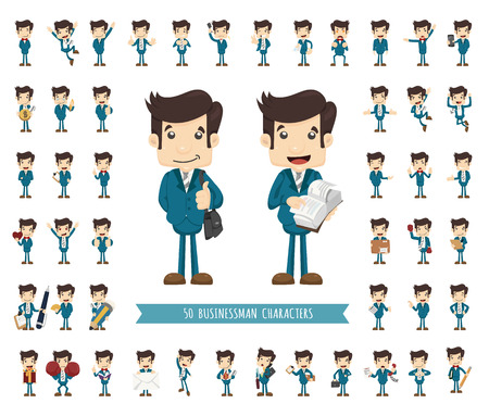 Illustration for Set of businessman character , eps10 vector format - Royalty Free Image