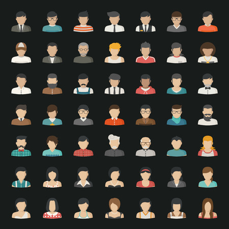 Ilustración de Business icons and people icons - Imagen libre de derechos