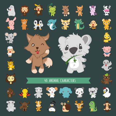 Set of Animal costume characters