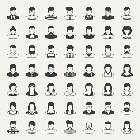 Illustration for Business icons and people icons - Royalty Free Image