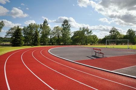 Running tracks on the athletics stadium.