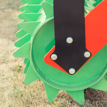 Photo pour Part of disc harrow, detail of agricultural or industrial machinery - image libre de droit