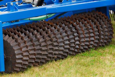 Photo pour Part and detail of agricultural machine, modern technology in agriculture concept - image libre de droit