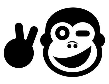 Happy gorilla