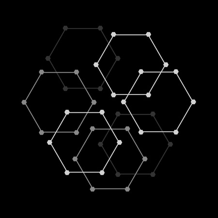 Illustration pour Geometric figures pattern - image libre de droit