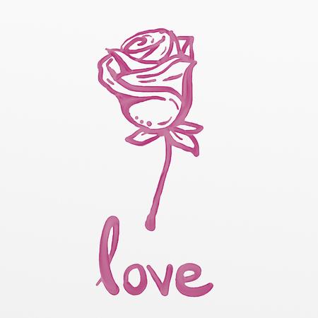 Foto de Flower with love message - Imagen libre de derechos
