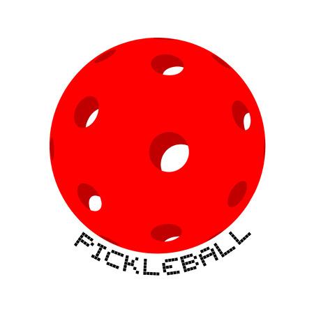 Ilustración de Pickleball symbol design - Imagen libre de derechos